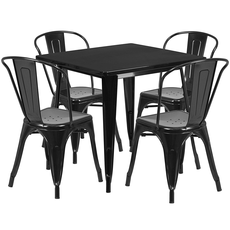 Bộ bàn ghế cafe Tolix TG 8804
